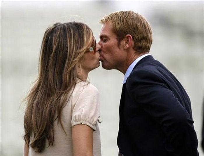 <b>Shane Warne:</b> We were trying to keep this about current crop of players but Warne and Elizabeth Hurley just cannot be ignored. Love has blossomed with every passing day between these two and Hurley (post Arun Nayyar of course) has taken Aussie hues as well as the former spinner has taken her charm.