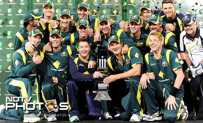 Australian bowlers ran circles around Sri Lanka and managed to defend a modest total of 231 to claim the tri-nation series, on Thursday. A look (AFP images)