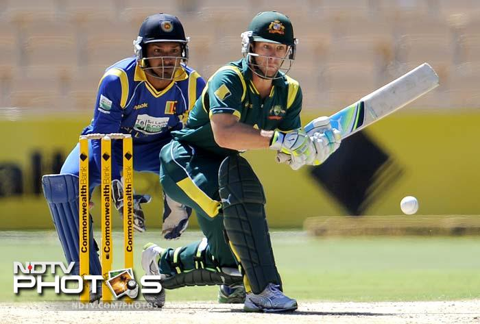 While Wade had 49 runs before being dismissed by Rangana Herath, Warner was the first to depart, scoring 48.