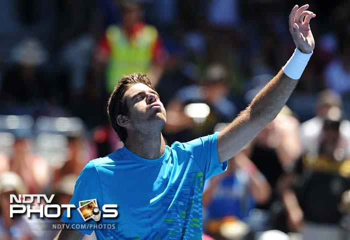 Former US Open champion Juan Martin Del Potro needed four sets and three hours to reach the second round in overcoming French world number 91 Adrian Mannarino 2-6, 6-1, 7-5, 6-4 on Hisense Arena.