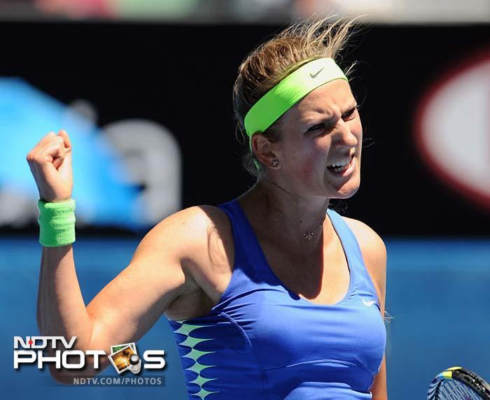 In form Victoria Azarenka was brutal in her win, sweeping aside Briton Heather Watson 6-1, 6-0.