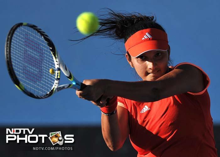 India's Sania Mirza again failed to go beyond the first round as she lost to Bulgaria's Tsvetana Pironkova in straight sets.