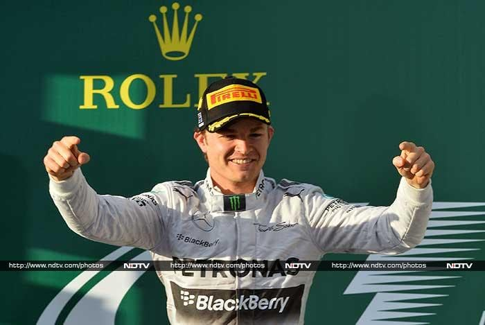 Germany's Nico Rosberg led from start to finish to win an eventful season-opening Australian Grand Prix Sunday as world champion Sebastian Vettel and pole-sitter Lewis Hamilton were both early casualties.