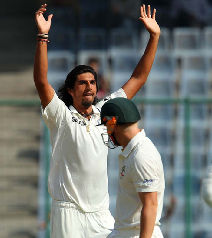 Australia started on a disastrous note, this time Ishant Sharma the chief destructor. He got the dangerous David Warner for a duck, caught by Virat Kohli at slip. (BCCI Image)