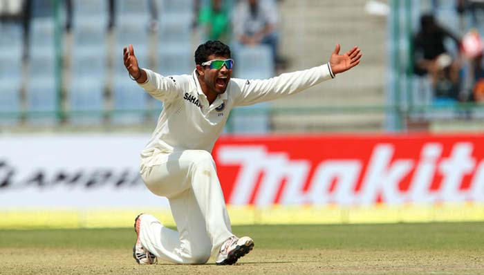 With their tails up, Jadeja and Ashwin then smelt 'blood'. Matthew Wade, probably unlucky, Glenn Maxwell and Mitchell Johnson were snapped up by the Indian spin twins in a matter of few overs to give huge advantage to the hosts. (BCCI Image)