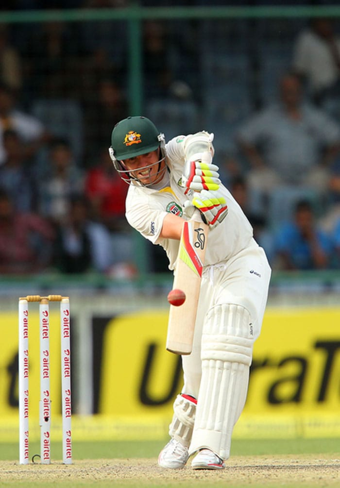 Peter Siddle and James Pattinson then joined hands to defy India yet again with some solid lower-order resistance. Australia ended Day 1 on 231/8 with Siddle (47* of 125 balls) and Starc (11* off 57 balls). (BCCI Image)