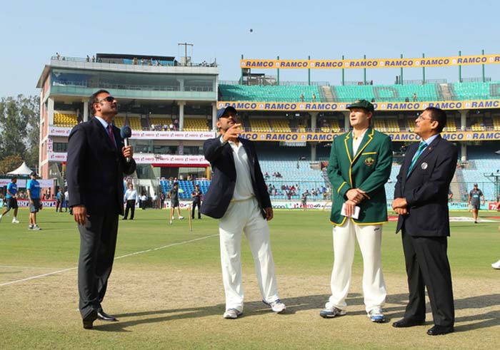 On a 'third-day' wicket in Delhi, Australia won the toss yet again and were in familiar territory yet again as Indian bowlers ran riot on Day 1 of the 4th and final Test. Australia's lower-order though fought back with vengeance to thwart India's charge somewhat. India is looking for a clean sweep while Australia would want to save face. (BCCI Image)