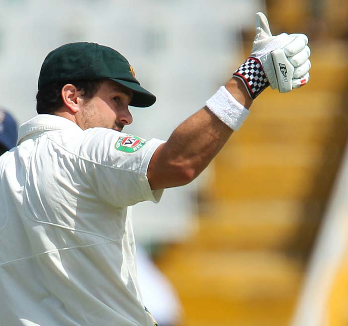 Ed Cowan and David Warner added 139 for the first wicket and hosts did look a bit rattled but with spinners in form were always hopeful for a turnaround. That is what happened and India managed to take wickets in a heap to constantly pressurise Australia.<br><br> Unlike first two Tests though, the visitors rallied with Steven Smith (92) and Mitchell Starc's (99) knocks. India had <i>Gabbar Dhawan</i> in store though.