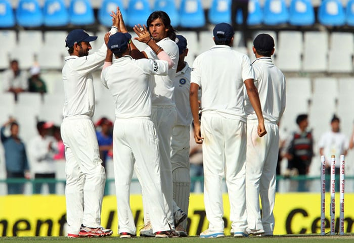 Another good thing for Team India was the bowling of Ishant and Bhuvneshwar to support the spinners. Ishant took wickets in the first innings while Bhuvi got into the act in the second outing. Indian fans smiled all the way! (BCCI Image)