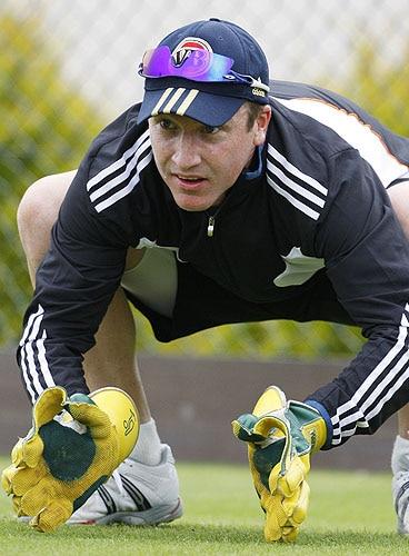 Brad Haddin, seen, during a training session at Edgbaston cricket ground in Birmingham, England on Tuesday. (AP Photo)