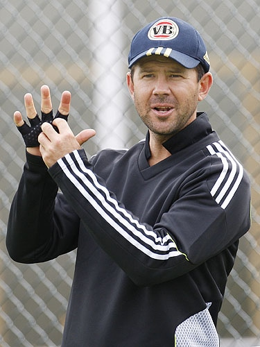 Ricky Ponting seen during a training session at Edgbaston cricket ground in Birmingham, England on Tuesday. (AP Photo)
