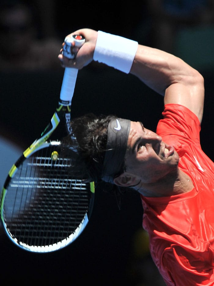 Nadal gets his head in the game.