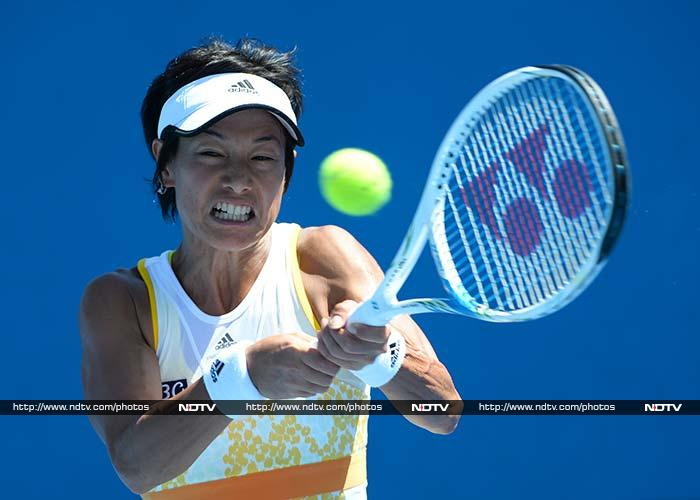 Kimiko Date-Krumm lost to 16-year-old Belinda Bencic, a qualifier playing in her first major after winning two junior Grand Slam titles last year. Bencic eliminated Date-Krumm in the first round, 6-4, 4-6, 6-3.