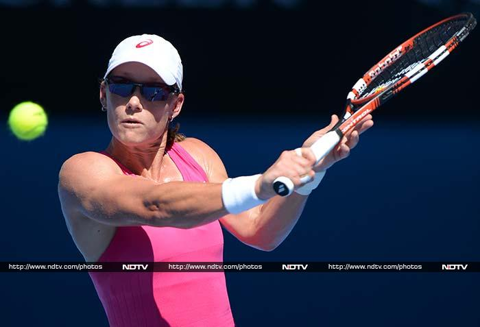 Sam Stosur fought back from 4-1 down in the second set to beat Klara Zakopalova of the Czech Republic 6-3, 6-4 in the first round of the Australian Open.