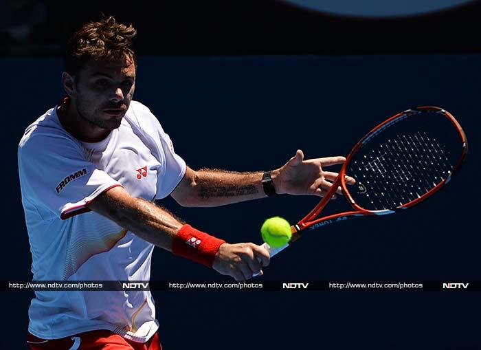 Stanislas Wawrinka progressed on an injury retirement by his opening round opponent Andrey Golubev. Golubev retired with a calf injury in the second set of their match on Hisense Arena with Wawrinka leading 6-4, 4-1 at the time.