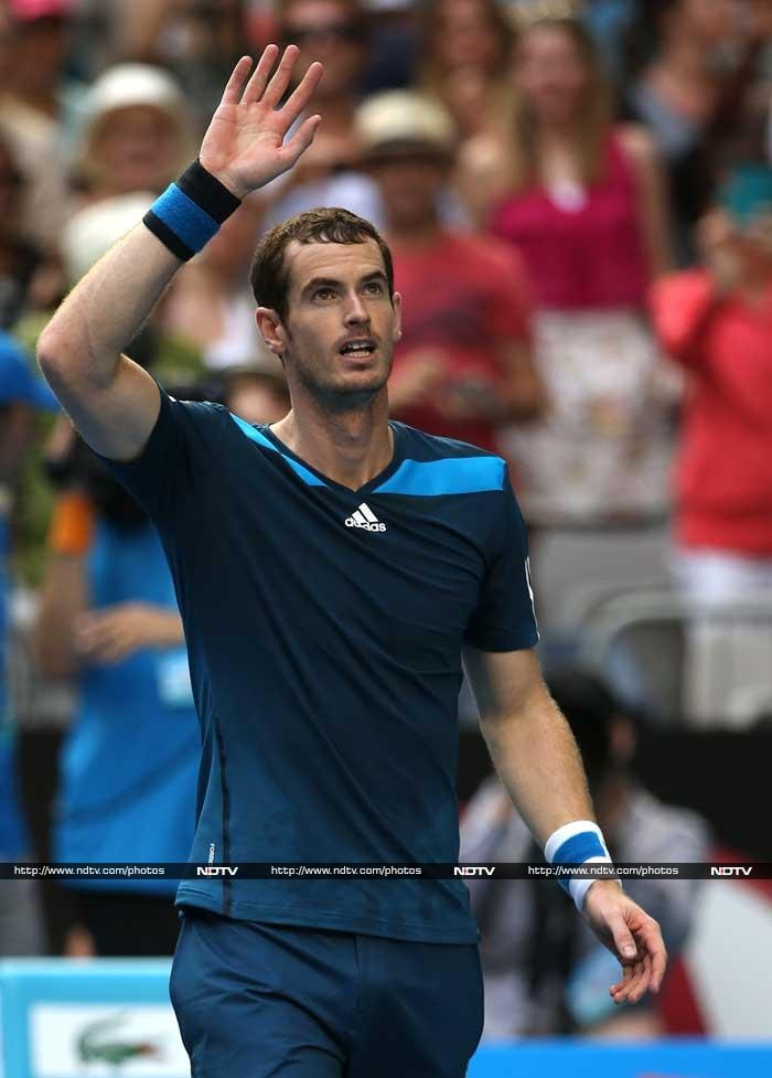 Three-time finalist Andy Murray advanced to the fourth round at the Australian Open for the sixth straight year with a 7-6 (2), 6-4, 6-2 win over No. 26-seeded Feliciano Lopez of Spain. (All AP and AFP images)
