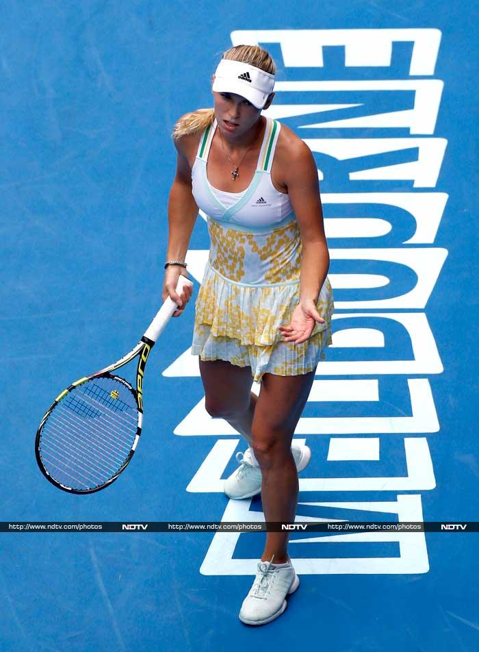 Unheralded Spaniard Garbine Muguruza overcame her nerves to send former world number one Caroline Wozniacki crashing out of the Australian Open Saturday, continuing her stellar run of form.