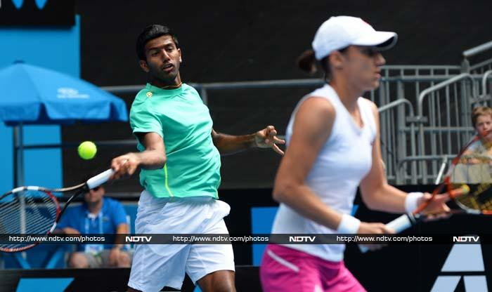 Rohan Bopanna and his partner Katarina Srebotnik of Slovenia also entered the quarter-finals of the mixed doubles event after posting 7-6(5) 7-5 win over Australian duo of Ashleigh Barty and John Peers.