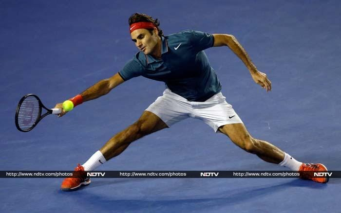Roger Federer downed French 10th seed Jo-Wilfried Tsonga in straight sets to storm into the quarter-finals at the Australian Open on Monday. The Swiss sixth seed won 6-3, 7-5, 6-4 in one hour 52 minutes and will now face British fourth seed Andy Murray in the last eight. (All AP and AFP images)