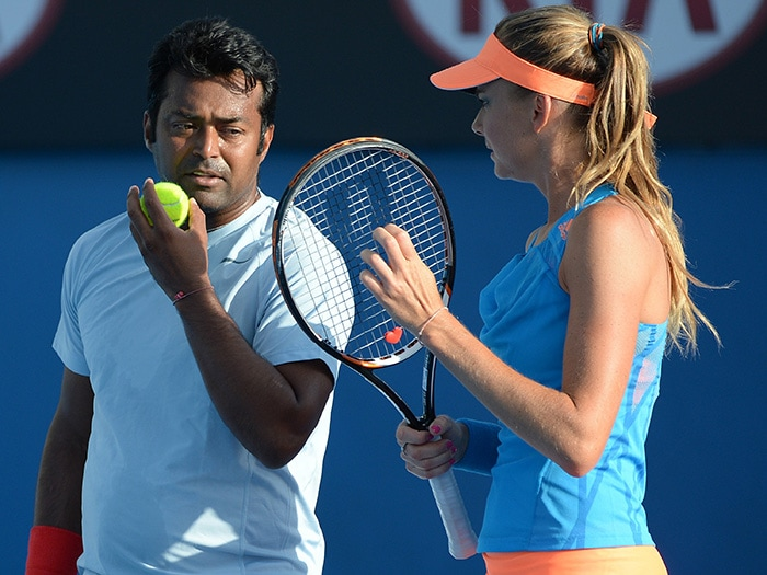 In the mixed doubles category, India's Leander Paes's campaign came to an end as he and Daniel Hantuchova lost 3-6, 3-6 to Daniel Nestor and Kristina Mladenovic.
