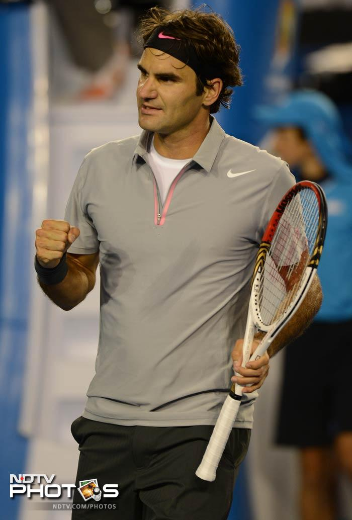 Federer put big-talking Australian Bernard Tomic firmly in his place. Though Tomic had said that after 10 wins, it was the best time to face the great, the great proved greats are, well, great.<br><br> Federer won 6-4, 7-6 (7/5), 6-1.