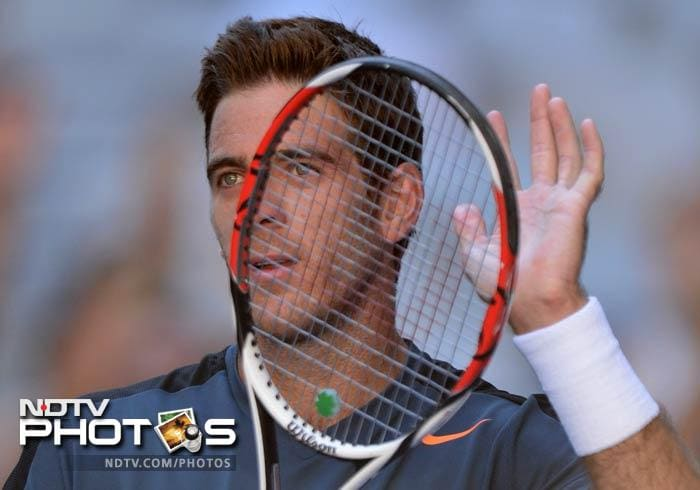Argentina's sixth seed Juan Martin Del Potro defeated French qualifier Adrian Mannarino in straight sets.