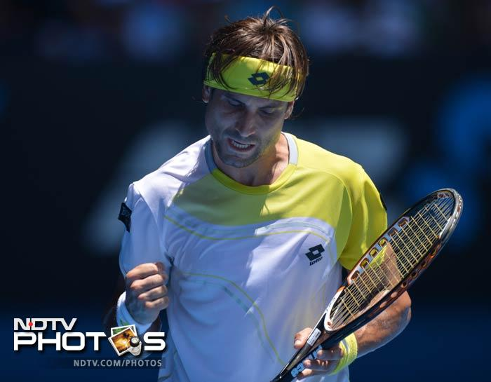 David Ferrer will face Nicolas Almagro in an all-Spanish quarter-final at the Australian Open after they took contrasting roads to the last eight on Sunday. <br> Ferrer, the fourth seed in celebrated countryman Rafael Nadal's absence, wore down Japan's Kei Nishikori in straight sets to reach his third straight quarter-final at the year-opening Grand Slam.