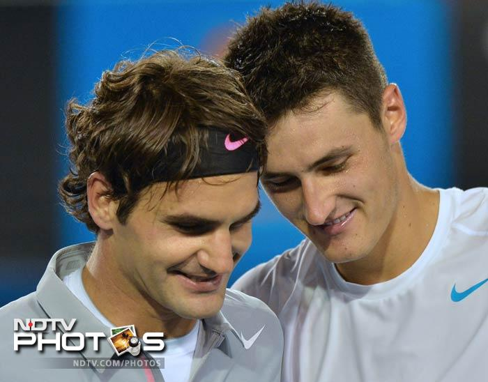 """Federer offered some pointed advice when he said the big-talking Tomic should always show respect for his fellow players. """"I think it's important to be confident but obviously you need to respect the game and the other players,"""" Federer said.<br><br> Tomic had raised eyebrows by casting doubt on whether Federer would reach the third round at the Australian Open, and then by provocatively claiming that Saturday was """"the perfect time"""" to beat him."""