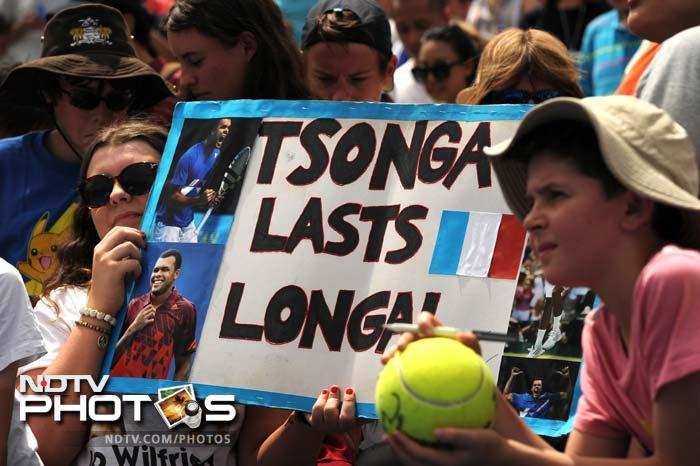 Tsonga's fans get behind him as he plays in a quest for his first Grand Slam.