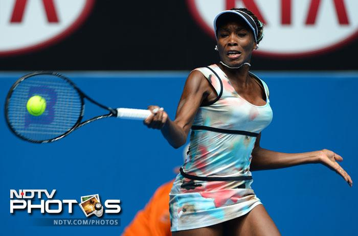 Galina Voskoboeva could not match up to the speed of Venus Williams with the latter winning the match 6-1, 6-0.