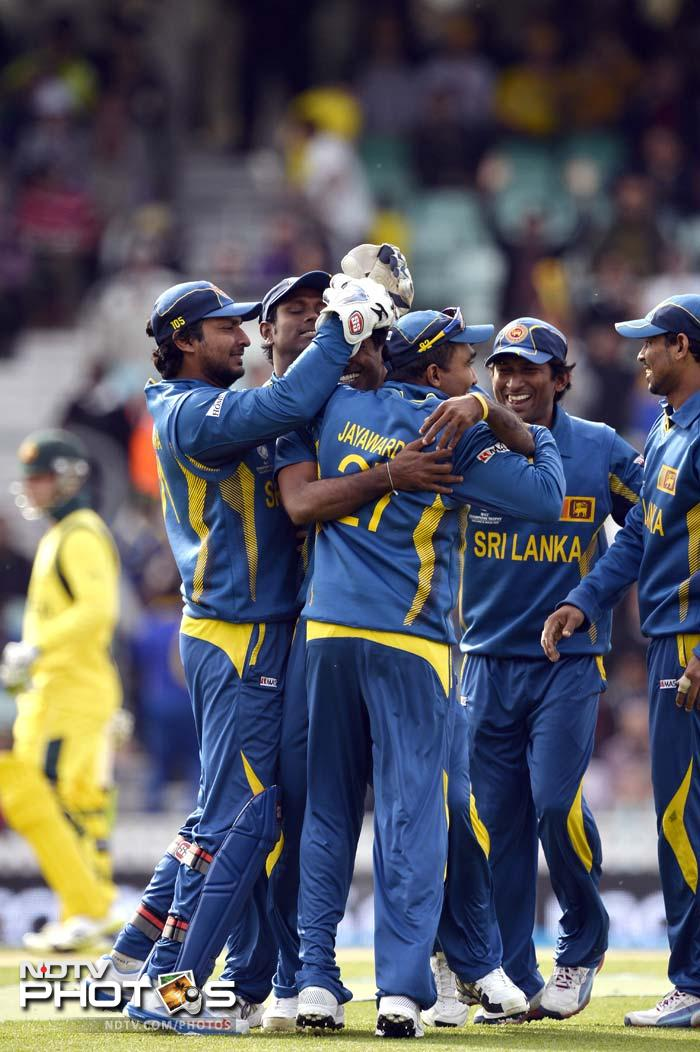 Australia eventually folded for 233 and the 20-run win booked Sri Lanka a date with India in the second semi-final.