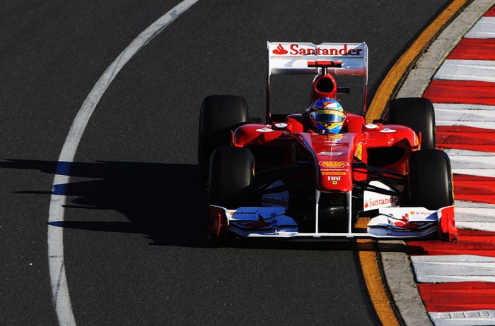 Ferrari's Fernando Alonso missed out on the podium, after coming in 4th, 3 places ahead of team-mate Felipe Massa.