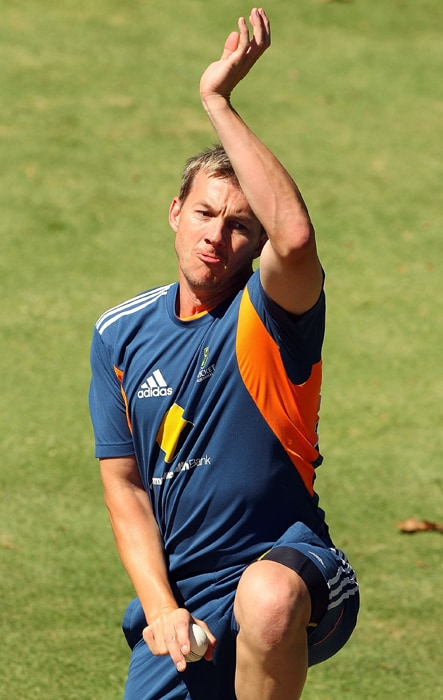 <b>BRETT LEE</b><br><br> <b>Age: </b> 34.<br><b>Role: </b>Right-hand batsman, Right-arm fast medium. <br> <b>Stats: </b>ODIs 192, Runs 938, Highest 57, Average 16.46, Strike-Rate 81.21, Centuries 0. Fifties 2, Catches 46. Wickets 335, Best Bowling 5-22, Average 23.04, Economy-Rate 78.95. <br><br> Veteran paceman recalled to squad after returning from a long-term elbow injury and played his first ODI against England since October 2009. Provides great energy to the attack and experience will be vital although durability remains a concern.(Photo: Getty Images)