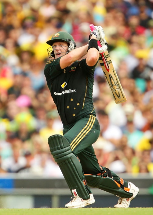 <b>CAMERON WHITE</b><br><br> <b>Age: </b>27.<br><b>Role: </b>Right-hand batsman. Right-arm leg-spin.<br> <b>Stats: </b>ODIs 79, Runs 1,947, Highest 105, Average 36.74, Strike-Rate 82.22, Centuries 2, Fifties 11, Catches 36. Wickets 12, Best Bowling 3-5, Average 28.83, Economy-Rate 106.46.<br><br> Australia's T20 captain after the retirement of Michael Clarke from that form of the game. Key player with his aggressive middle-order batting, leg-spin and leadership qualities.(Photo: Getty Images)