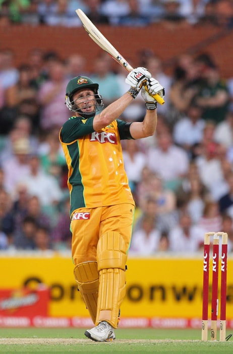<b>DAVID HUSSEY</b><br><br> <b>Age: </b>33.<br><b>Role: </b>Right-hand batsman. Right-hand off-spin.<br> <b>Stats: </b>ODIs 30, Runs 834, Highest 111, Average 32.08, Strike-Rate 87.70, Centuries 1, Fifties 6, Catches 16. Wickets 10, Best Bowling 4-21, Average 36.60, Economy-Rate 92.66.<br><br> Younger brother of Mike Hussey. An aggressive batsman and has been a regular in Australia's Twenty20 team and a fringe ODI player. His mix of hard-hitting batting and part-time off-spin have earned him the trip.(Photo: Getty Images)