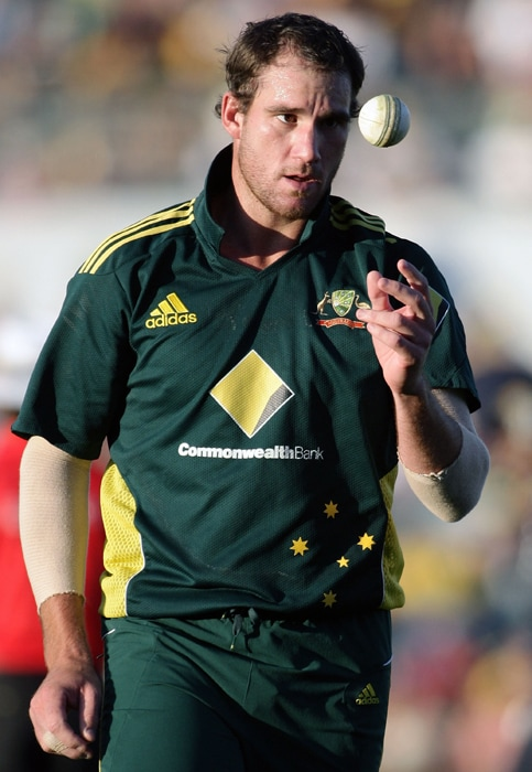<b>JOHN HASTINGS</b><br><br> <b>Age: </b>25.<b>Role: </b>Right-hand batsman, right-arm medium.<br> <b>Stats: </b>ODIs 7, Runs 61, Highest 18no, Average 15.25, Strike-Rate 89.71, Centuries 0, Fifties 0, Catches 1. Wickets 6, Best Bowling 2-35, Average 48.17, Economy-Rate 83.05.<br><br> All-rounder who was a surprise selection after strong bowling and lower-order batting form. Named the Bradman Young Cricketer of the Year after his breakthrough season with Victoria in 2009-10. Tall bowler who makes up for his lack of pace off the wicket with swing and subtle movement.(Photo: Getty Images)