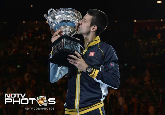 Djokovic, 25, became the first man in the Open Era and the third man ever to win three consecutive Australian Open titles, joining Australians Jack Crawford (1931-33) and five-time winner Roy Emerson (1963-67).