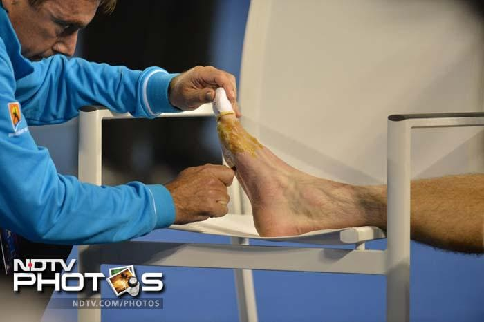 Murray received treatment on his foot. Signs that he was struggling began surfacing.