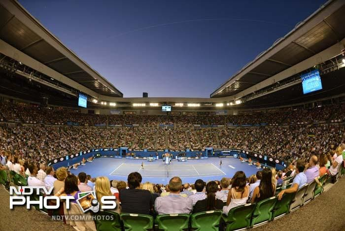 A packed Rod Laver Arena witnessed the match which lasted 3 hours and 40 minutes.