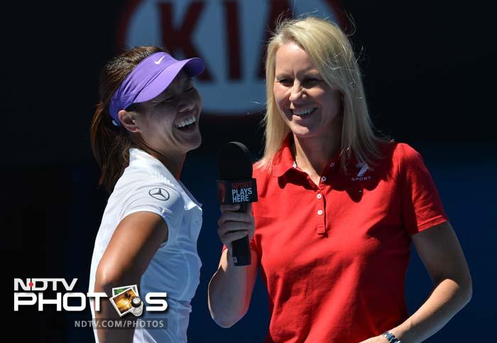 She is seen in a lighter mood in the post-match talk. Li had earlier said that her training was hard and had made her consider quitting tennis. She now has a shot at the title.