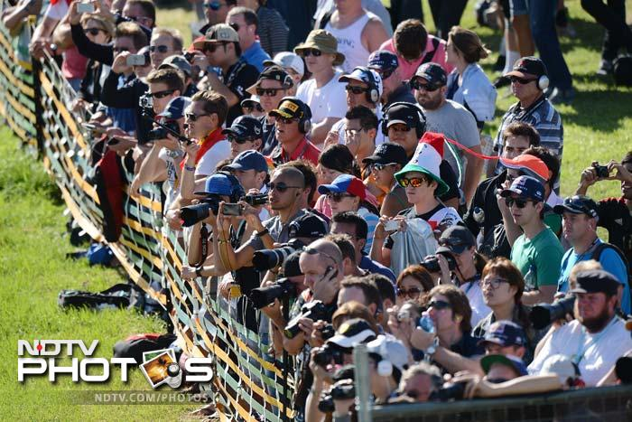 Fans at Albert Park were mesmerised by the speed on display as the 3-time World Champion raced his way to post the quickest times. Teammate Mark Webber - winner here last year - posted the second quickest time.