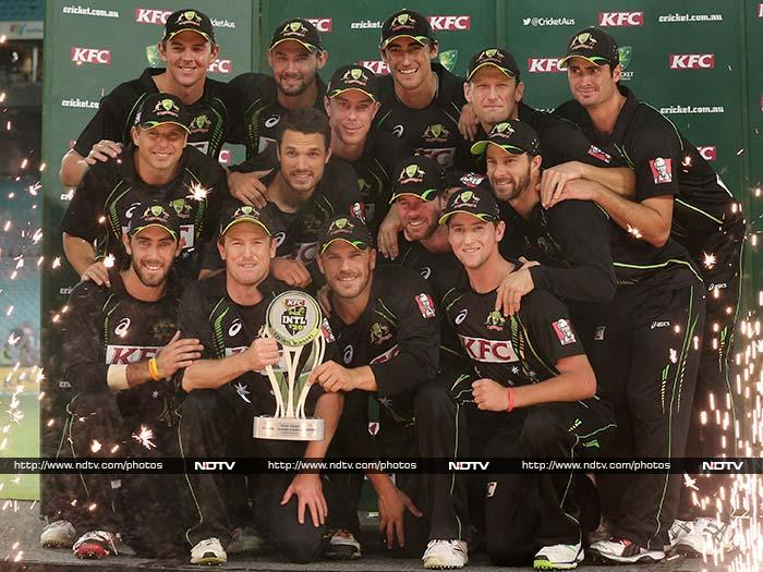 The win extended Australia's superiority over England in all forms the game, allowing it to follow a 5-0 sweep of the Ashes Test series and 4-1 win in the one-day internationals with a 3-0 rout in the Twenty20 series. In 13 matches against Australia this summer, England won only once.