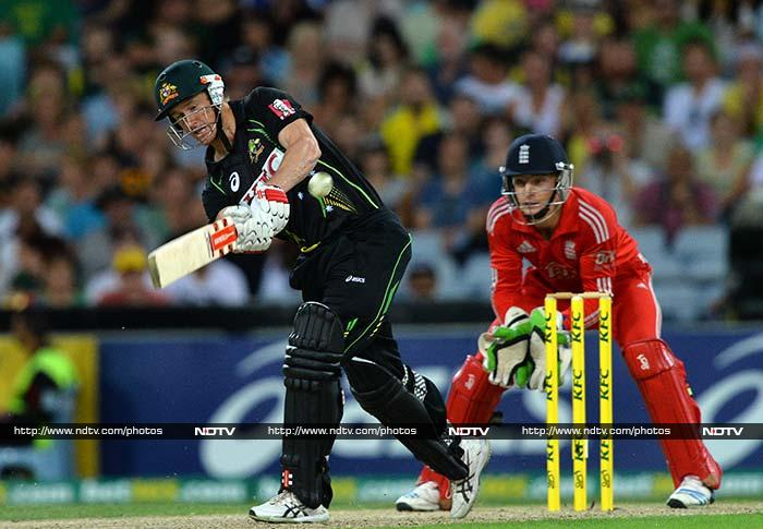 The Australians, with man-of-the-match George Bailey smashing an unbeaten 49 off 20 balls, scored 195 for six after winning the toss in Sydney. (All AP and AFP images)