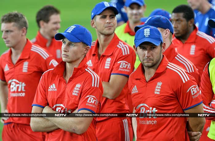 The home side then dismissed the psychologically-scarred tourists for 111 in the 18th over to sweep the series. Eoin Morgan was the best of a bad lot with 34 off 20 balls as the Australian bowlers shared in the wickets.