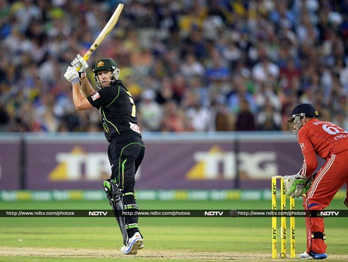 Opener Cameron White continued his strong T20 series with 41 off 37 balls, while fast bowler Ben Cutting -- elevated to number four in the batting order -- cracked three sixes in his 29 off 16 balls.