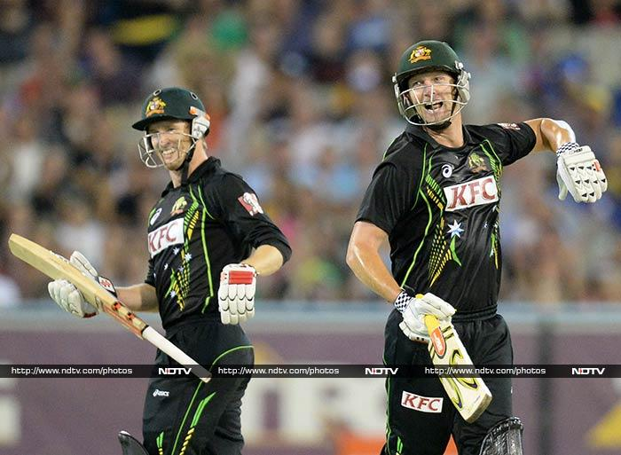 George Bailey and Cameron White stitched an unbeaten 78-run partnership as Australia reached the target with 31 balls to spare.