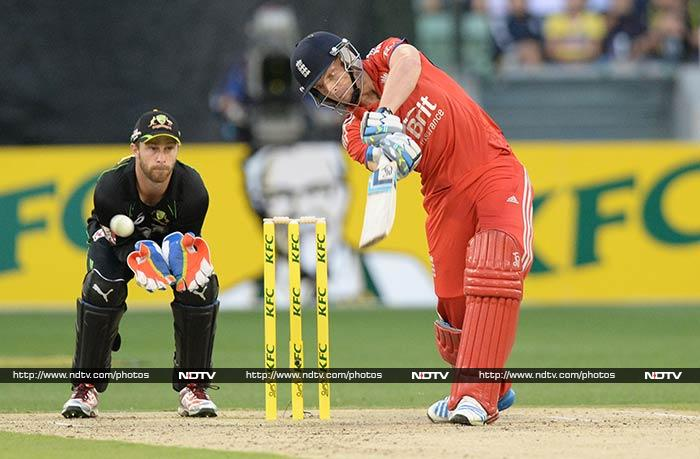 Regular wicket falls ensured their innings never gained momentum and Jos Buttler's 22 from 27 balls was the highest individual score in a feeble collective effort.