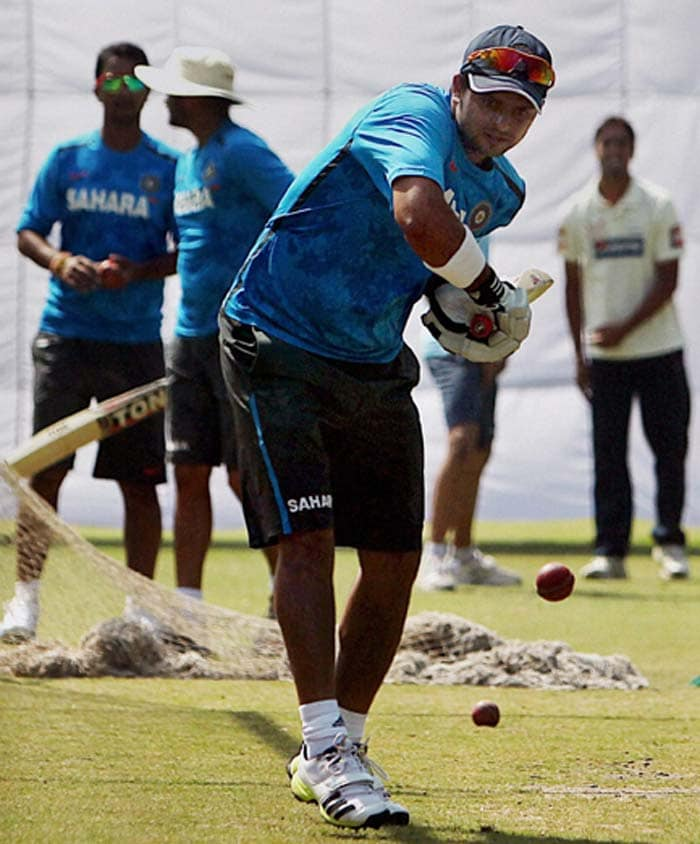 Having being recalled into the side, Suresh Raina was training hard in the hope that he would get selected in the playing XI.