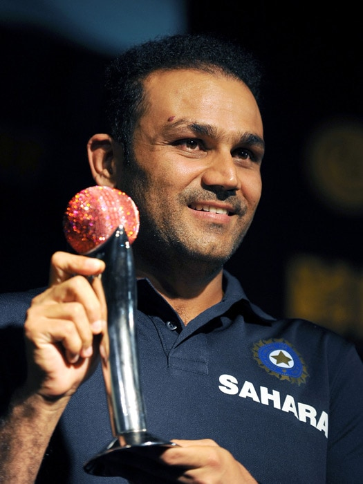 India batsman Virender Sehwag has won the ICC Test Player of the Year. During the 12-month voting period, Sehwag put in some remarkable performances with the bat, making 1,282 runs with an impressive average of 85.46 in the 10 Test matches he played. He scored six centuries and four half-centuries during the period.