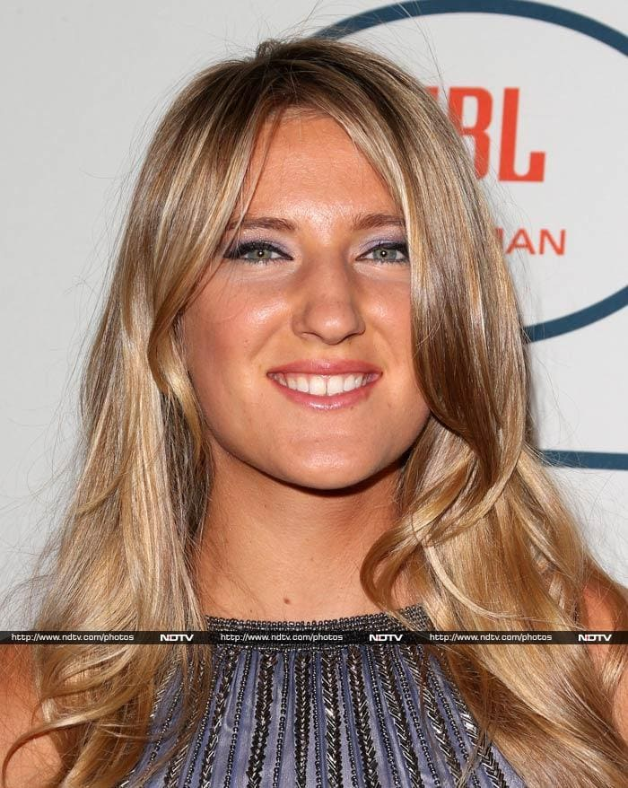 Defending champion in the recently concluded Australian Open, the 24-year-old player from Belarus showed no signs of disappointment at having been knocked out early. She looked gorgeous at the pre-Grammys party in a hotel in California.
